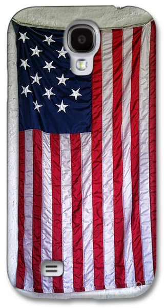 Antique American Flag Galaxy S4 Case by Olivier Le Queinec