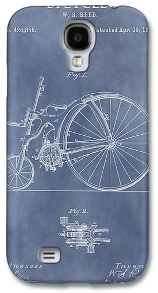 Antique Bicycle Patent 1890 Galaxy S4 Case by Dan Sproul