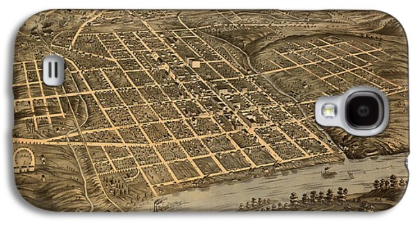 Antique Bird's-eye View Map Of Knoxville Tennessee 1871 Galaxy S4 Case by Mountain Dreams