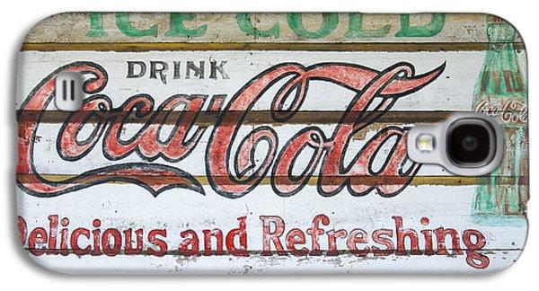 Antique Coca Cola Sign  Galaxy S4 Case by Chris Flees
