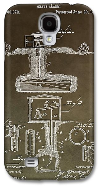 Antique Grave Alarm Patent Galaxy S4 Case by Dan Sproul