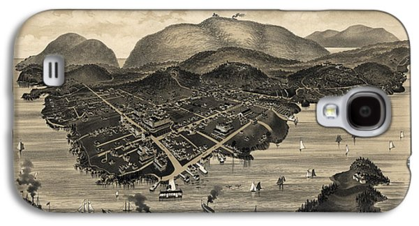 Antique Map Of Bar Harbor Maine By G. W. Morris - 1886 Galaxy S4 Case