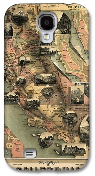 Antique Map Of California By E. Mcd. Johnstone - 1888 Galaxy S4 Case