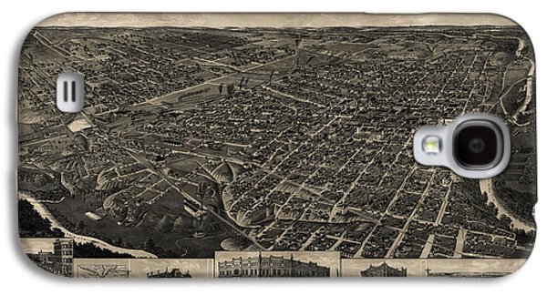 Antique Map Of Fort Worth Texas By H. Wellge - 1886 Galaxy S4 Case by Blue Monocle