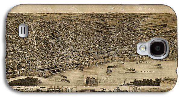Antique Map Of Memphis Tennessee By H. Wellge - 1887 Galaxy S4 Case by Blue Monocle