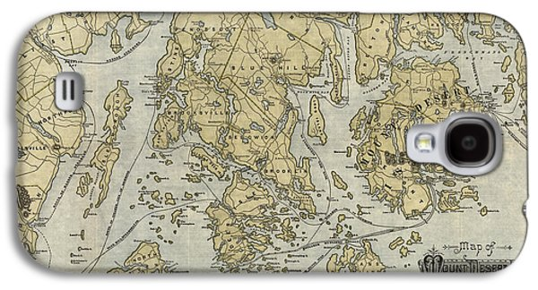 Antique Map Of Mount Desert Island And The Coast Of Maine - Circa 1900 Galaxy S4 Case