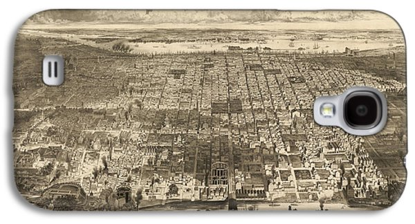 Antique Map Of Philadelphia By John Bachmann - 1857 Galaxy S4 Case by Blue Monocle