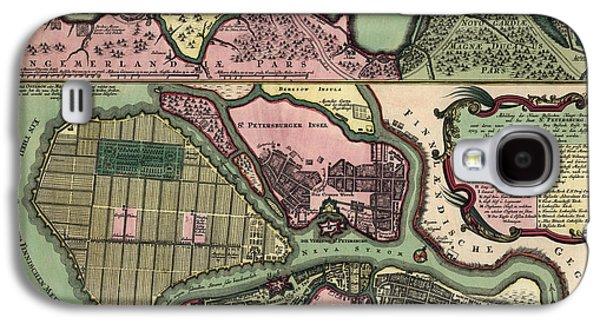 Antique Map Of Saint Petersburg Russia By Matthaeus Seutter - Circa 1734 Galaxy S4 Case
