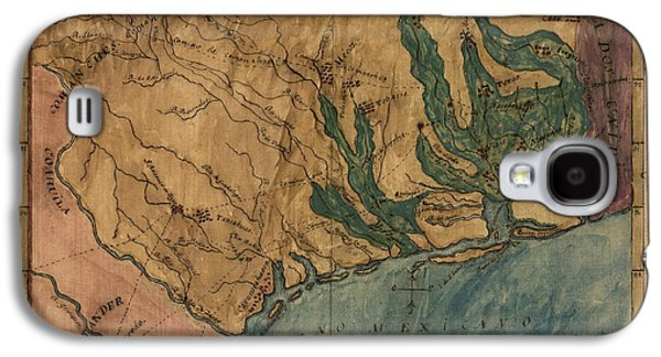 Antique Map Of Texas By Stephen F. Austin - Circa 1822 Galaxy S4 Case