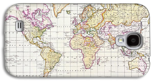 Antique Map Of The World Galaxy S4 Case by James The Elder Wyld