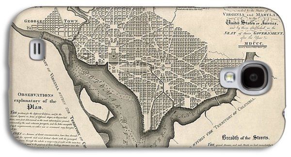 Antique Map Of Washington Dc By Andrew Ellicott - 1792 Galaxy S4 Case