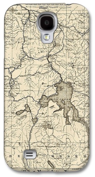 Antique Map Of Yellowstone National Park By The U. S. War Department - 1900 Galaxy S4 Case