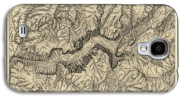 Antique Map Of Yosemite National Park By George M. Wheeler - Circa 1884 Galaxy S4 Case by Blue Monocle