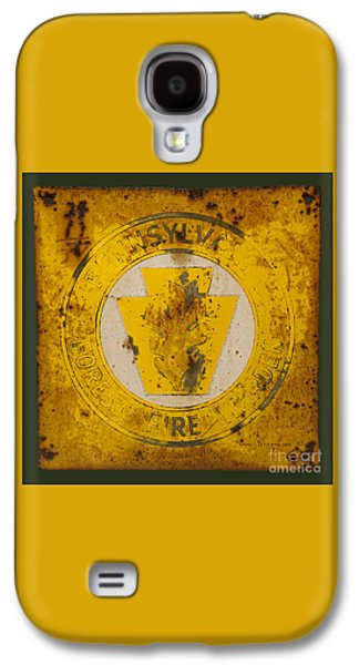 Antique Metal Pennsylvania Forest Fire Warden Sign Galaxy S4 Case