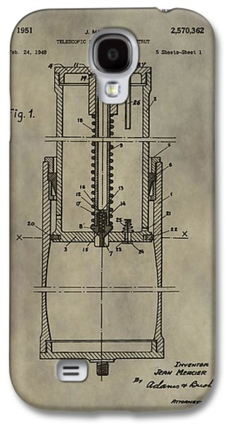 Antique Shock Absorber Patent Galaxy S4 Case by Dan Sproul