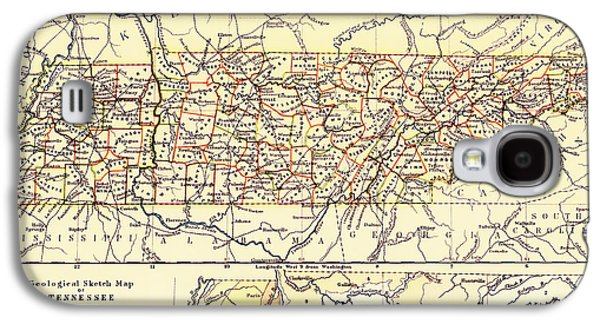 Antique State Of Tennessee Map 1888 Galaxy S4 Case by Mountain Dreams