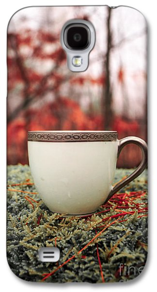 Antique Teacup In The Woods Galaxy S4 Case by Edward Fielding