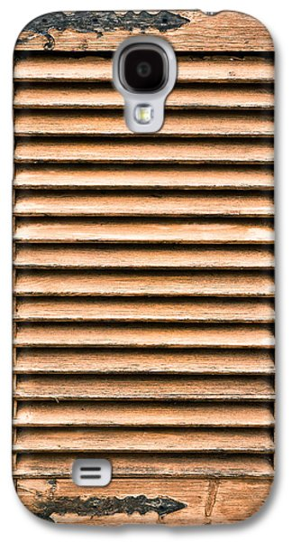Antique Wooden Shutter Galaxy S4 Case by Tom Gowanlock