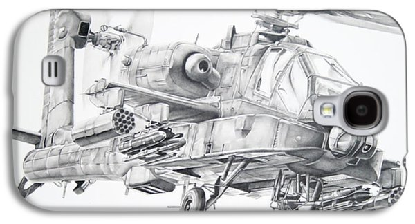 Helicopter Galaxy S4 Case - Apache by James Baldwin Aviation Art