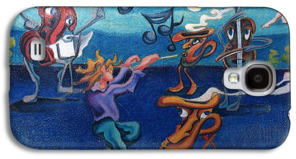 Apollinaire's First Symphony With Musical Instruments Galaxy S4 Case by Genevieve Esson