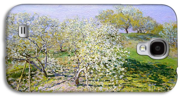 Apple Trees In Bloom 1873 Galaxy S4 Case by Claude Monet
