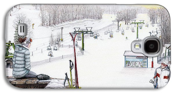 Apres-ski At Hidden Valley Galaxy S4 Case by Albert Puskaric