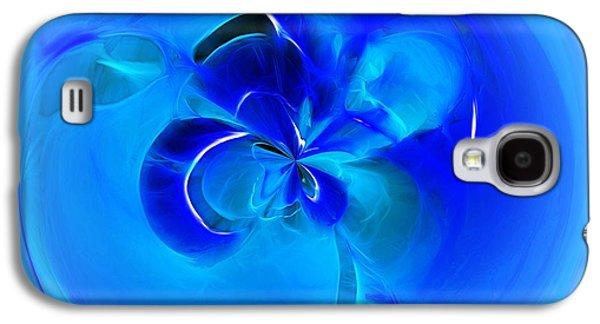 Aqua Blue Orb Galaxy S4 Case