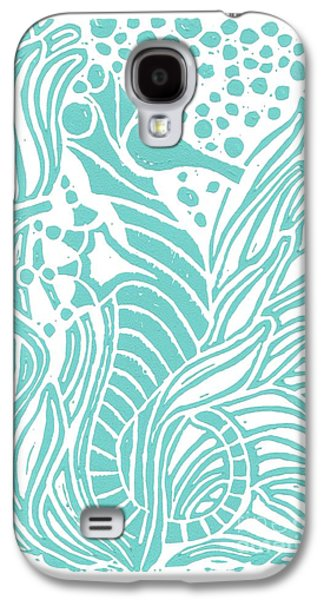 Aqua Seahorse Galaxy S4 Case by Stephanie Troxell