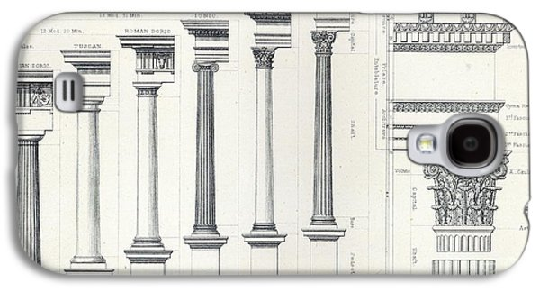 Architecture I Orders Of Architecture Engraved By Charles Lawrie Galaxy S4 Case by  John Burley Waring