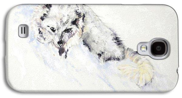 Arctic Fox Kit Galaxy S4 Case by Sandy Brooks