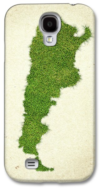 Argentina Grass Map Galaxy S4 Case by Aged Pixel