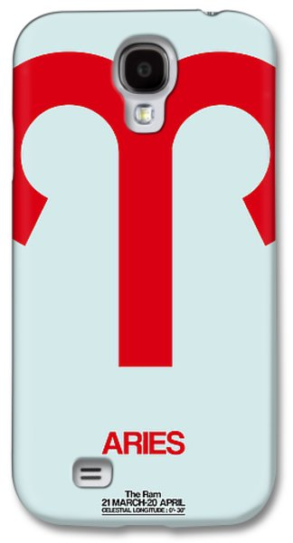Aries Zodiac Sign Red Galaxy S4 Case by Naxart Studio
