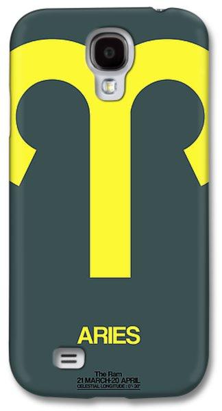 Aries Zodiac Sign Yellow Galaxy S4 Case