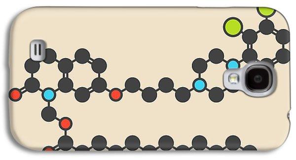 Aripiprazole Lauroxil Drug Molecule Galaxy S4 Case by Molekuul