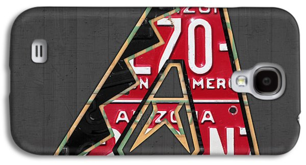 Arizona Diamondbacks Baseball Team Vintage Logo Recycled License Plate Art Galaxy S4 Case by Design Turnpike