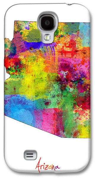 Arizona Map Galaxy S4 Case by Michael Tompsett