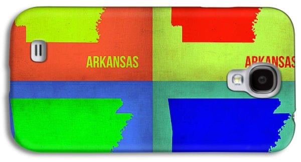 Arkansas Pop Art Map 1 Galaxy S4 Case