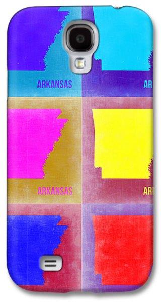 Arkansas Pop Art Map 2 Galaxy S4 Case