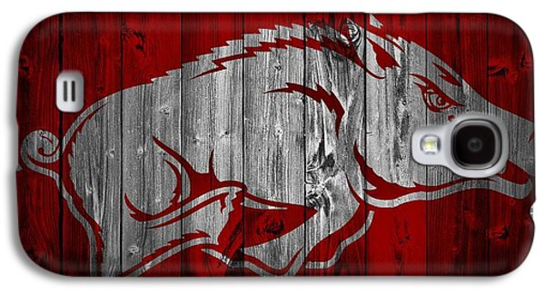 Arkansas Razorbacks Barn Door Galaxy S4 Case by Dan Sproul