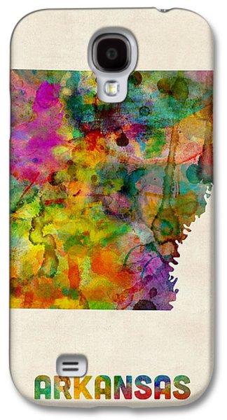 Arkansas Watercolor Map Galaxy S4 Case