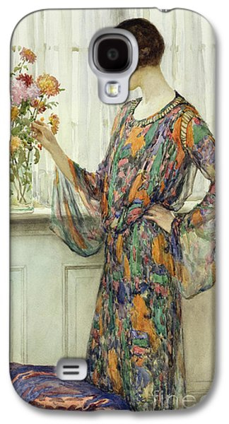Arranging Flowers Galaxy S4 Case by William Henry Margetson
