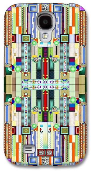 Art Deco Stained Glass 2 Galaxy S4 Case by Ellen Henneke
