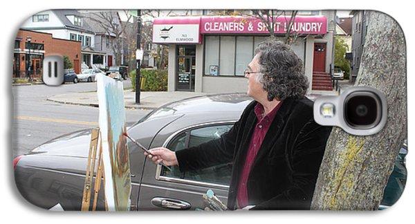 Artist At Work Buffalo Galaxy S4 Case by Ylli Haruni