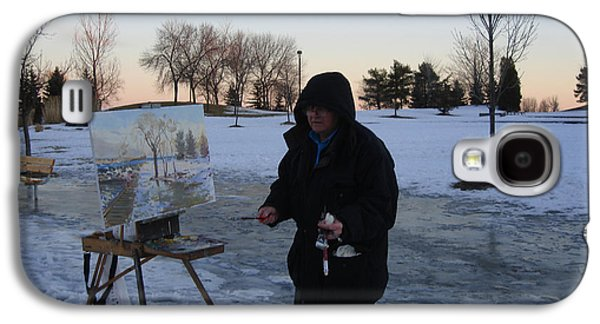 Artist At Work Lake Shore Mississauga On Galaxy S4 Case by Ylli Haruni