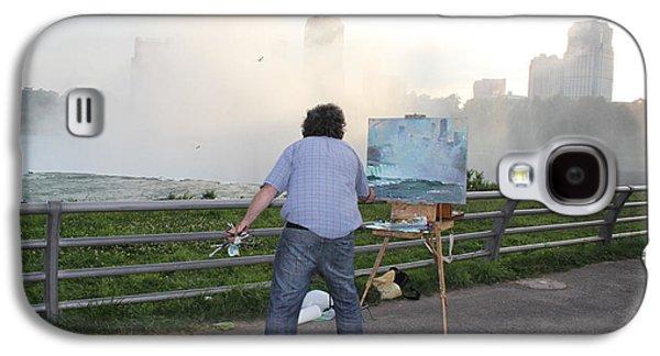 Artist At Work Niagara Falls Ny Galaxy S4 Case by Ylli Haruni