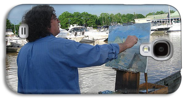 Artist At Work Port Credit Mississauga On Galaxy S4 Case by Ylli Haruni