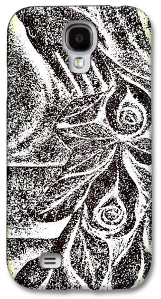 Artistic Hand And Flowers Galaxy S4 Case