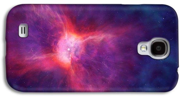 Artwork Of A Bipolar Planetary Nebula Galaxy S4 Case by Mark Garlick