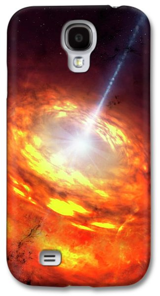 Artwork Of An Active Galactic Nucleus Galaxy S4 Case by Mark Garlick