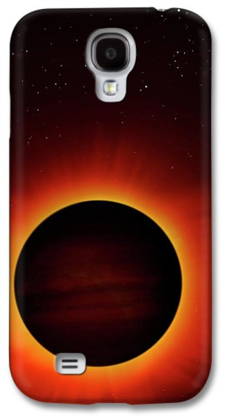 Artwork Of Exoplanet Eclipsing Its Star Galaxy S4 Case by Mark Garlick